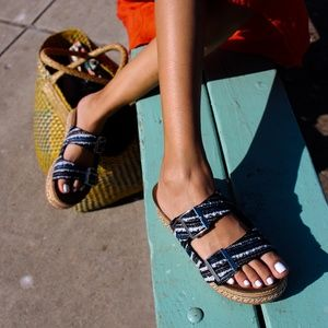 🆕// The Sasha// Black platform espadrille Sandals